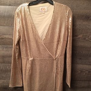 Gianni Bini Gold Dress